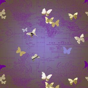 world of butterflies brown