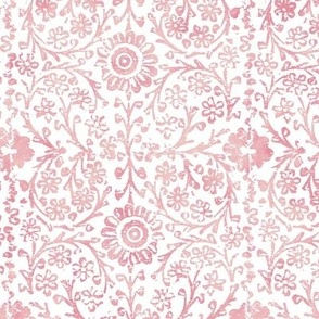 Indian Woodblock in Rose Pink (large scale)