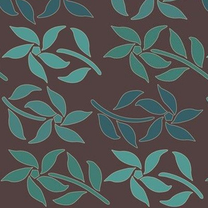 Cloisonne_4flowers_4bluegreens_BROWN