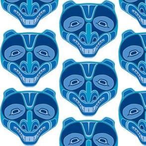 American Indian Bear Face Blue