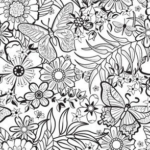 Colorable Floral