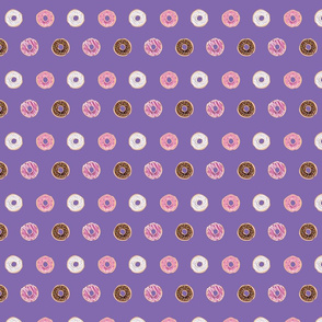 Sweet Donuts on Purple