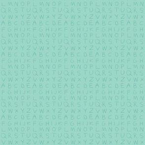 Pencil alphabet - oolong aqua