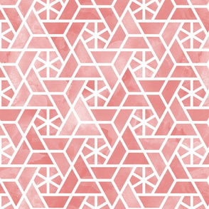 Watercolor lattice - trendy pink