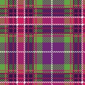 Large Purple Pink Green Plaid