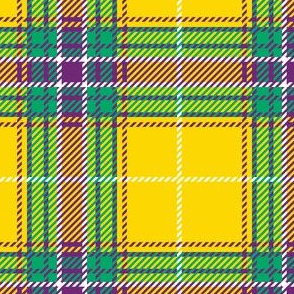 Yellow Purple Teal Plaid
