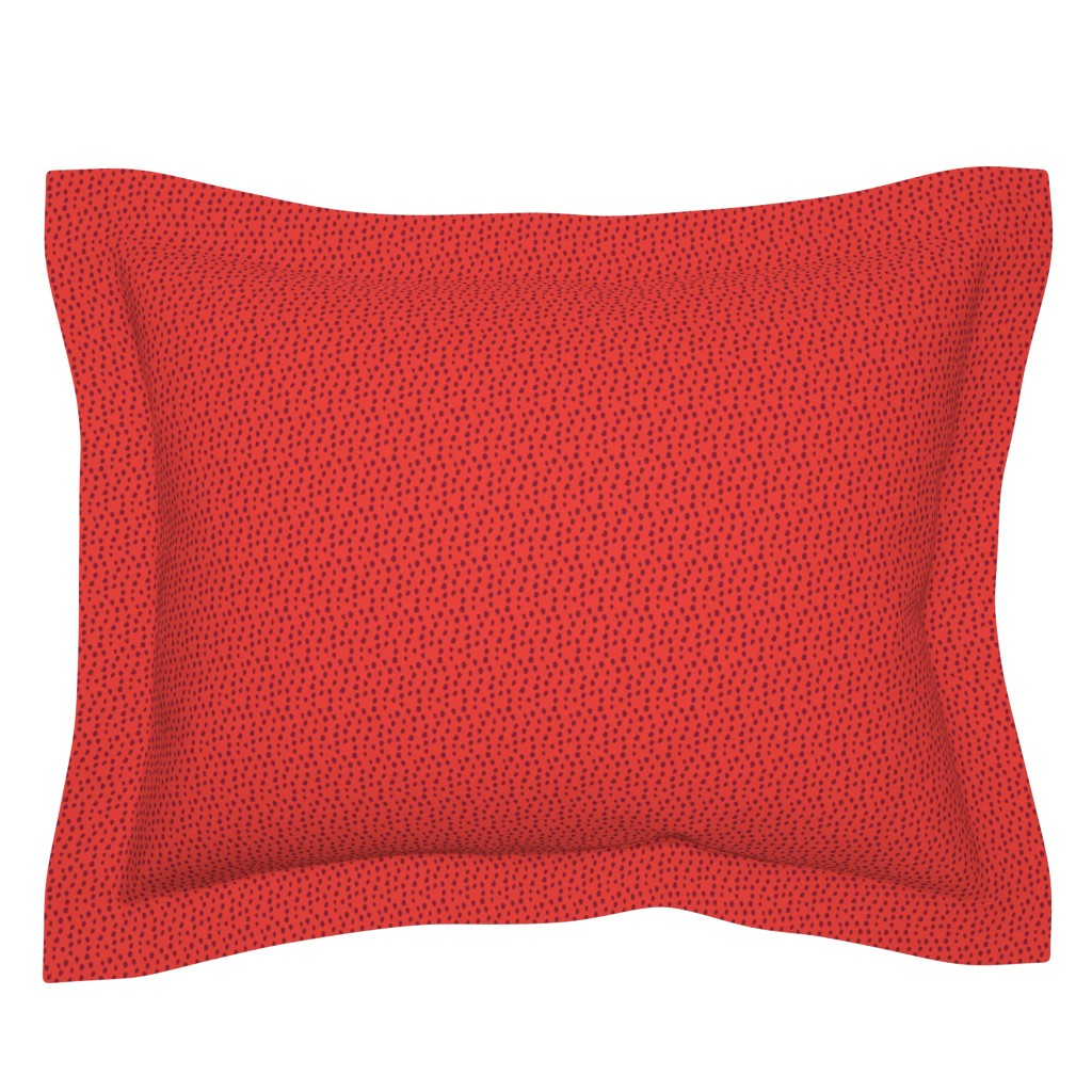 Sebright Pillow Sham featuring Red and Maroon Animal Print by colettegorgas