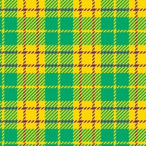 Small Yellow Teal Purple Plaid