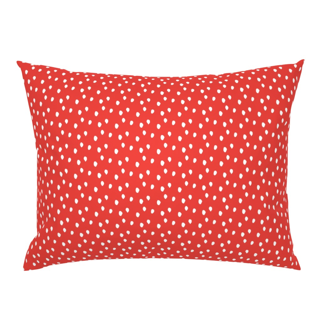 Campine Pillow Sham featuring White & Red Animal Print by colettegorgas