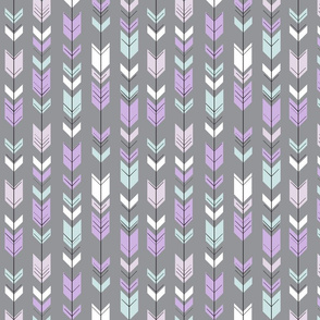 fletching arrows (small scale ) pewter || the lilac grove collection