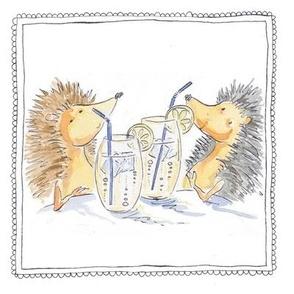 hedgehog drinks
