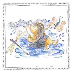hedgehog swim