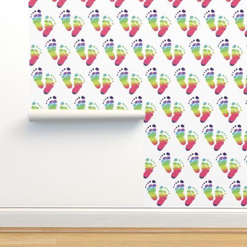 Wallpaper Rainbow Baby Feet