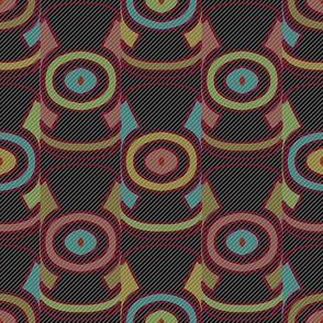 Dark Ikat (Stripes 2)