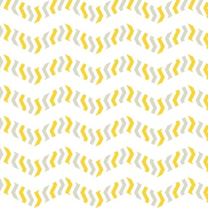 zebra chevron - yellow and bisque grey