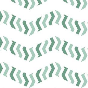 zebra chevron in mint green
