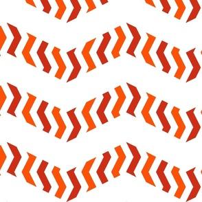 zebra chevron - dot red