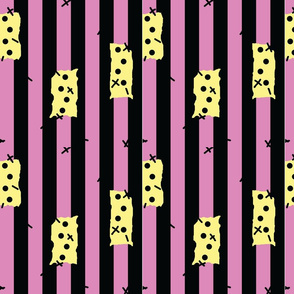 Sally Inspired Pattern Pink and Black