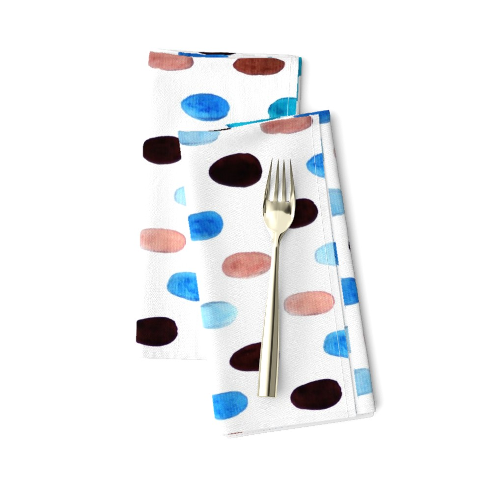 Amarela Dinner Napkins featuring Blue Ovals by designergal