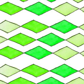 Bowling Diamonds - green hues