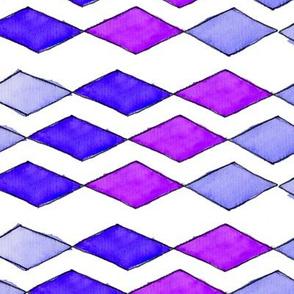 Bowling Diamonds - purple hues