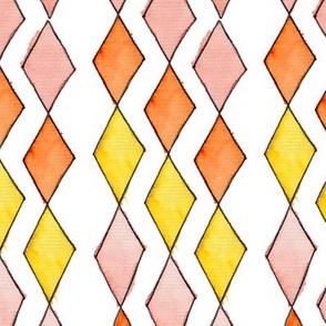 Bowling Diamonds - blush hues vertical