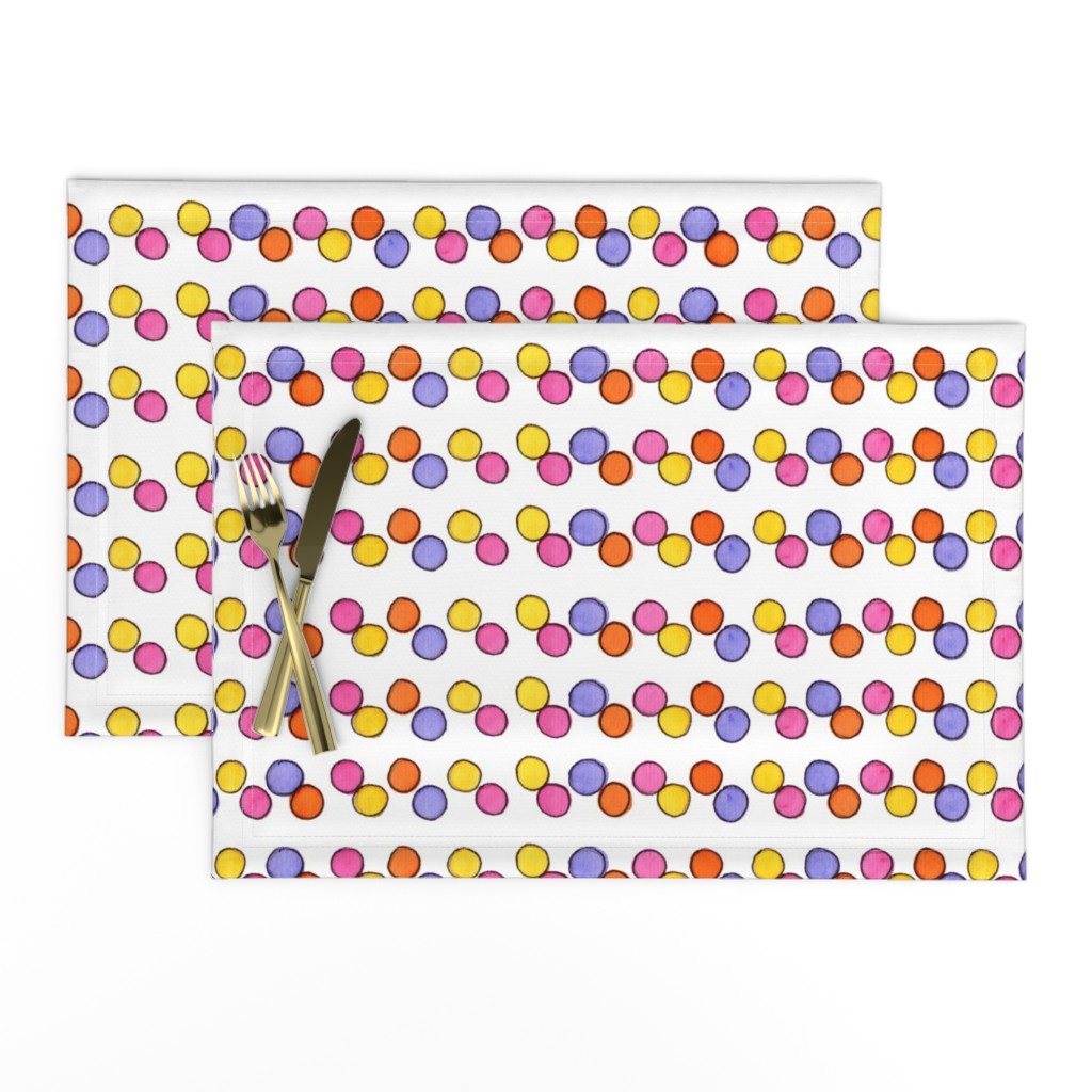 Lamona Cloth Placemats featuring Gumball Stripe by designergal