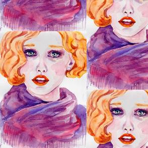 Red_head_beautiful_woman_in_watercolor
