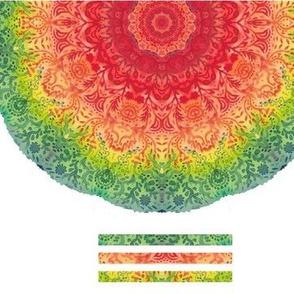 Watercolor mandala 9