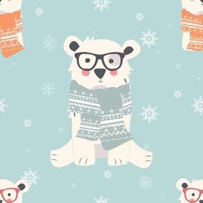 Bear Christmas pattern 006