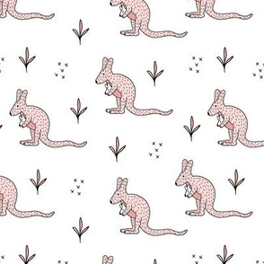 Sweet kangaroo mom and baby down under collection baby pink