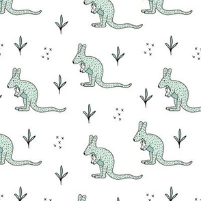 Sweet kangaroo mom and baby down under collection baby mint