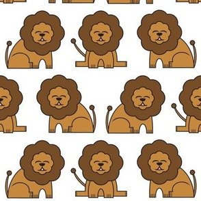 Lions // safari lion wild animal baby print design kids nursery