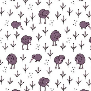 Cool kiwi birds quirky animals from New Zealand purple
