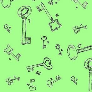 lucky keys mint green