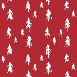 Oh Christmas Tree - deep red