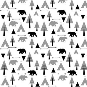bear camp // Lumberjack B&W