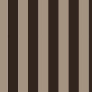 WIDE STRIPES brown v