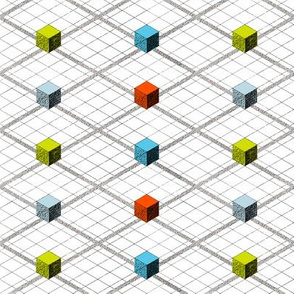 Totem Cubes Argyle - Multi
