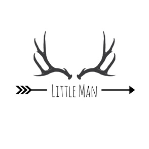 Little Man Antler Pillow/ FQ
