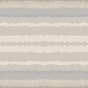 Beige Sand Horizontal Jagged Stripe