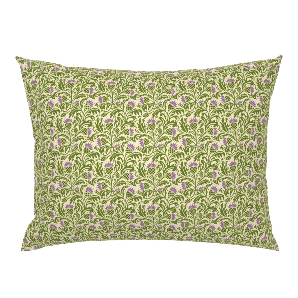 Campine Pillow Sham featuring Thistle, dark green by cindylindgren