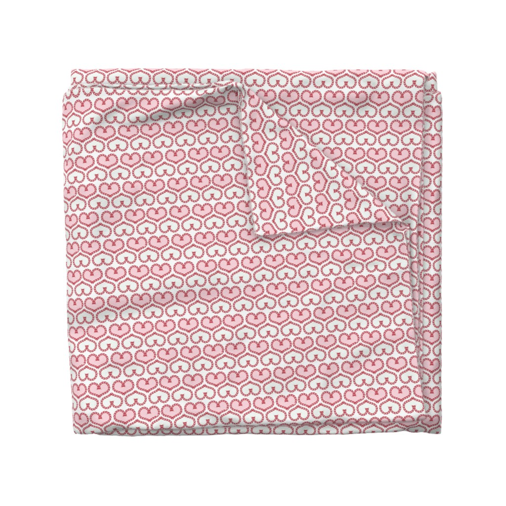 Wyandotte Duvet Cover featuring  pink hearts  by minyanna