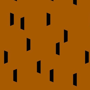 Strokes dashes - black on rust || by sunny afternoon