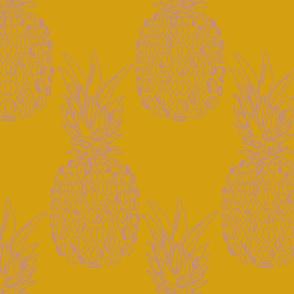 pineapple purple on mustard