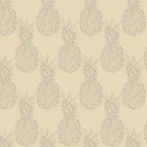 grey pineapples on creme