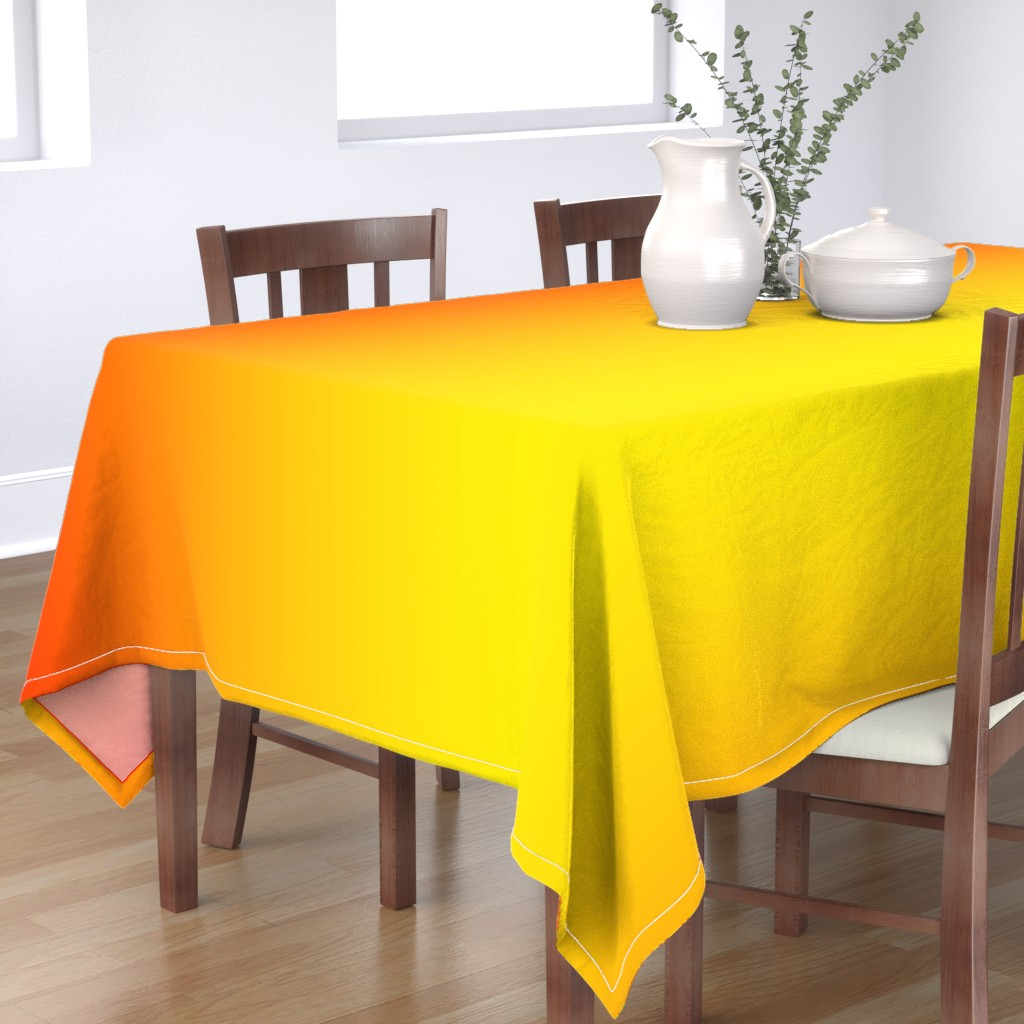 Bantam Rectangular Tablecloth featuring Phoenix Gradient Ombre by zo&so
