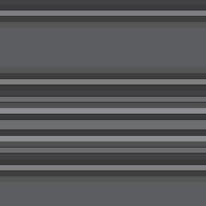 Chacoal Gray Horizontal Stripes
