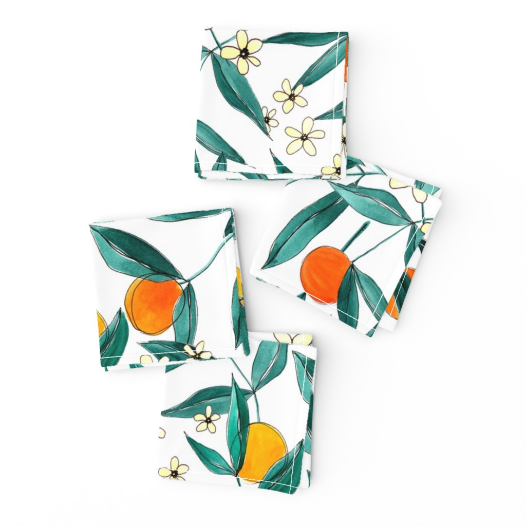 Frizzle Cocktail Napkins featuring Orange Summer by joy&ink