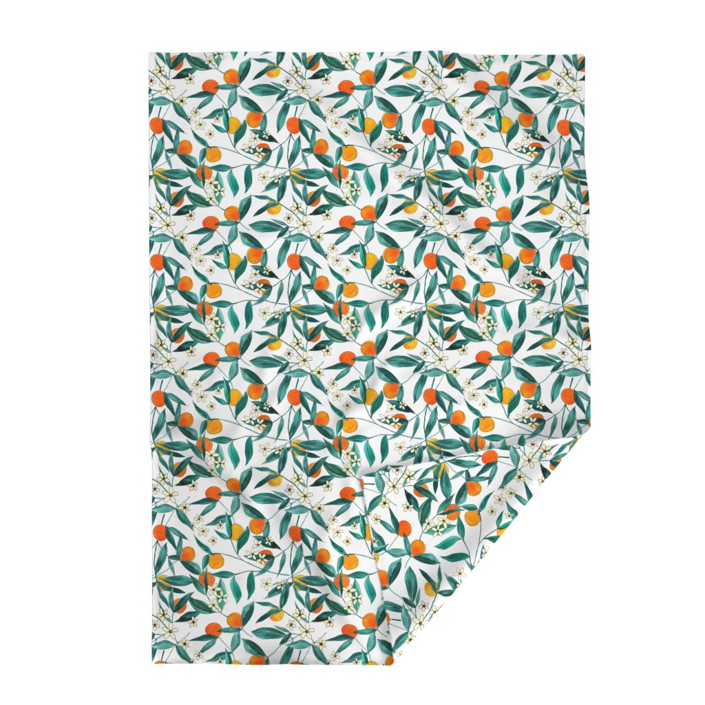 Lakenvelder Throw Blanket featuring Orange Summer by joy&ink